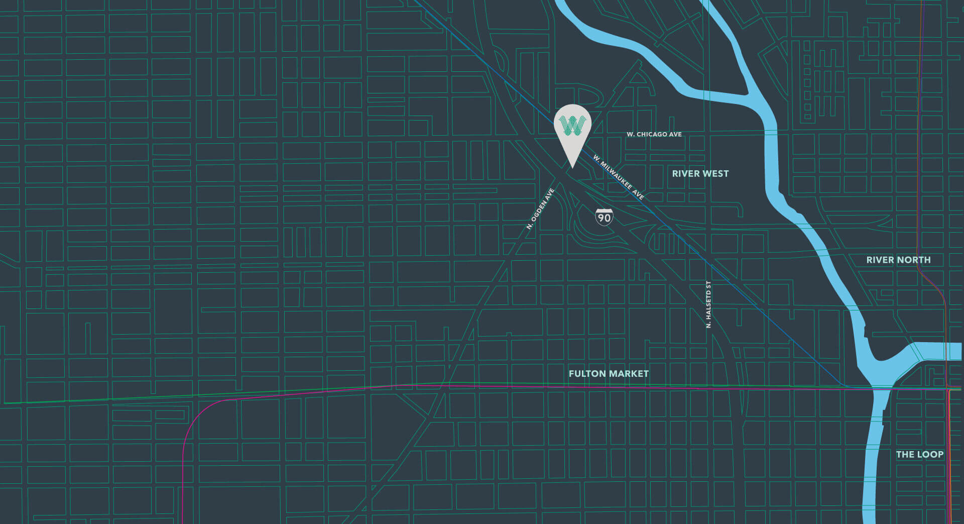 Westerly-Chicago-Map